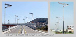 solar street light project in Malaysia
