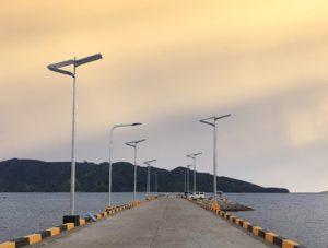 Integrated solar street light in Philippines