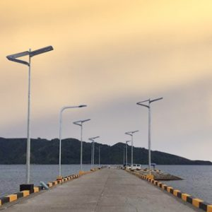 Integrated solar street light in Philippines