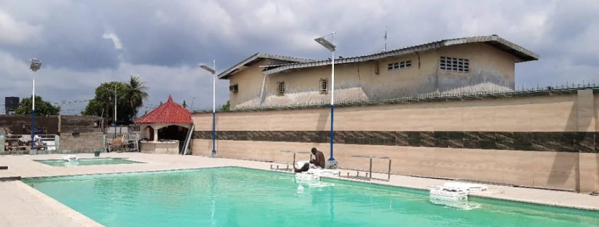 Solar Led street light project in Cameroon