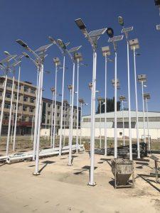 solar street light with pole
