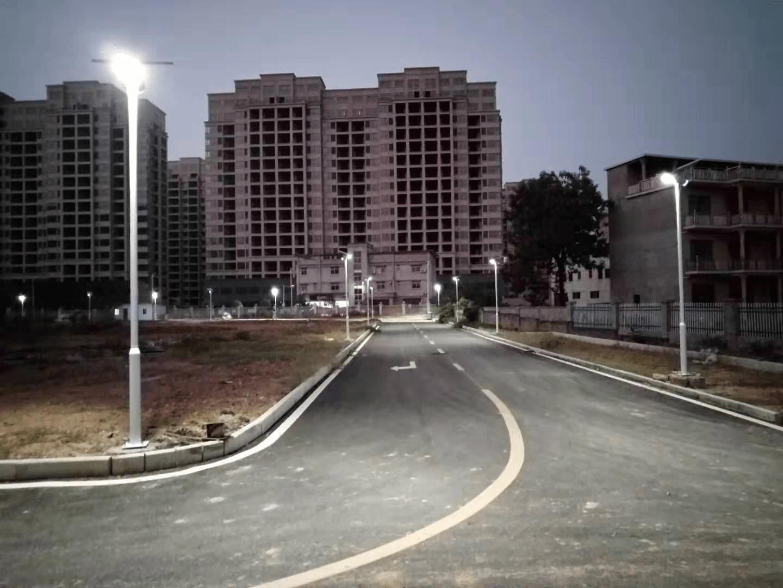 all in one solar street light application